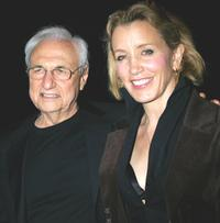 Frank Gehry and Felicity Huffman at the launch of Mr. Gehry's premiere jewelry collection for Tiffany and Co.