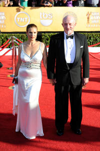 Jonathan Banks and Guest at the 18th Annual Screen Actors Guild Awards in California.