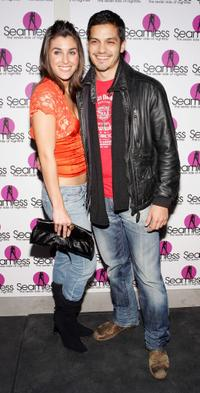 Monica Allgeier and Nicholas Gonzalez at the grand opening of the Seamless Adult Ultra Lounge.