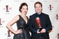Tammy Blanchard and Mike Birbiglia at the 26th Annual Lucille Lortel Awards in New York.