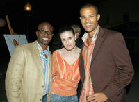 Taye Diggs, Idina Menzel and Jason Olive at the California premiere of