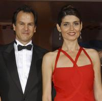 Christopher Buchholz and Regina Nemni at the premiere of
