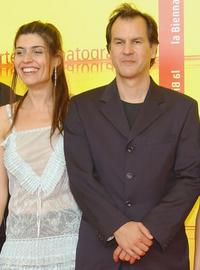 Regina Nemni and Christopher Buchholz at the photocall of