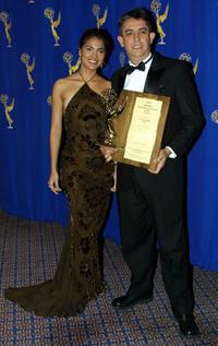 Lara Dutta and Walter Silvera at the 2000 International Emmy Awards Festival.