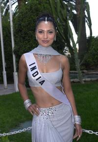 Lara Dutta at the evening event of the 2000 Miss Universe pagean.