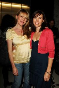 Lisa Hensley and Claudia Karvan at the official launch of