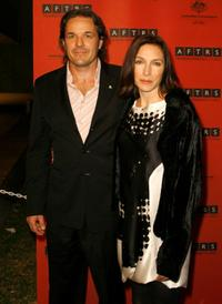 Jeremy Sparks and Claudia Karvan at the official opening of the new Australian Film Television and Radio (AFTRS) School.