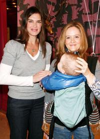 Brooke Shields and Samantha Bee at the Divalysscious Moms shopping event.
