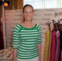 Rebecca Mader at the Belvedere Luxury Lounge in honor of the 80th Academy Awards.