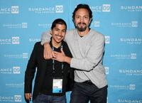 Jeremy Ray Valdez and Benjamin Bratt at the screening of