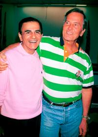 Casey Kasem and Pat Boone at the American Red Cross Blood Drive.