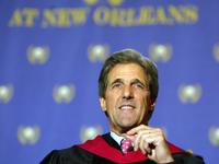 John Kerry at the Southern University's graduation in New Orleans.
