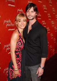 KaDee Strickland and Jason Behr at the release party of