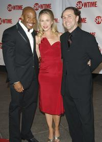 Erik King, Julie Benz and John Kassir at the premiere of