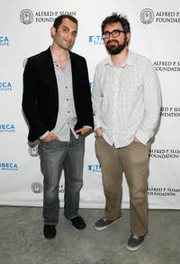Alex Lipschultz and Andrew Bujalski at the Sloan WIP Readings & Cocktails during the 2012 Tribeca Film Festival in New York.