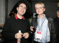 Andrew Bujalski and Eckhard Duesberg at the Members Party during the AFI Fest.
