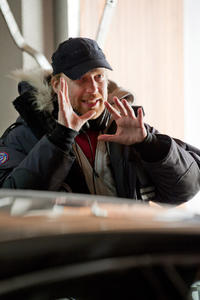 Director Morten Tyldum on the set of