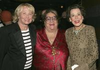 Liz Smith, Elaine Kaufman and Kitty Carlisle Hart at the surprise 80th birthday party for legendary musician Bobby Short.