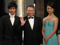 Wang Lee Hom, director Ang Lee and Tang Wei at the Golden Horse Film Awards in Taipei.