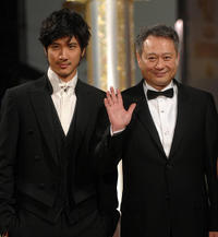 Wang Lee Hom and director Ang Lee at the Golden Horse Film Awards in Taipei.