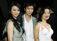 Tang Wei, Wang Lee Hom and Joan Chen at the California premiere of