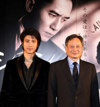 Wang Lee Hom and director Ang Lee at the Japanese premier of