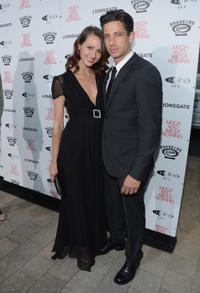 Amy Acker and James Carpinello a at the California screening of