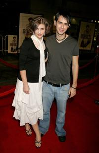 Heather Weeks and Scott Mechlowicz at the premiere of