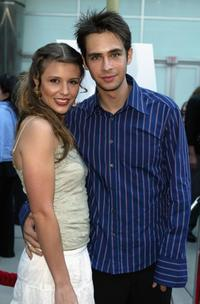 Scott Mechlowicz and his girlfriend at the premiere of