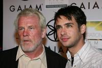 Nick Nolte and Scott Mechlowicz at the premiere of