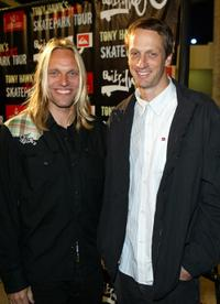 Natas Kaupas and Tony Hawk at the DVD premiere of