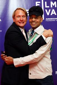 Carson Kressley and Crayton Robey at the screening and panel discussion of