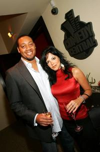 Cedric Yarbrough and Heather Provost at the Comedy Central Emmy after party.
