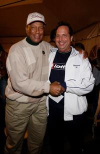 Ernie Banks and Jon Lovitz at the opening night of