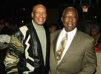 Ernie Banks and Hank Aaron at the Los Angeles premiere of