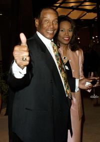 Ernie Banks and Guest at the Hollywood Beautification Team 3rd Annual Award Gala Dinner.