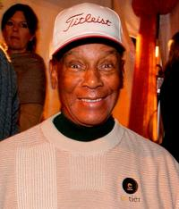 Ernie Banks at the opening night of