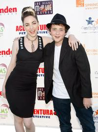 Brittany Curran and Ryan Malgarini at the premiere of