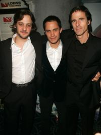 Rodrigo de la Serna, Gael Garcia Bernal and Director Walter Salles at the premiere of