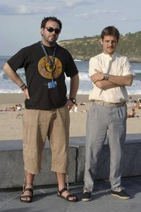 Director Israel Adrian Caetano and Rodrigo de la Serna at the photocall of