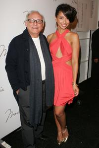 Max Azria and Mya at the Baby Phat Spring 2008 Fashion Show during the Mercedes-Benz Fashion Week Spring 2008.