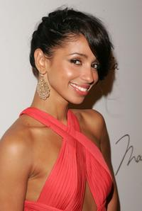 Mya at the Max Azria Spring 2008 Fashion Show.