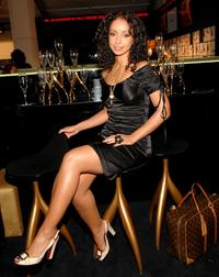 Mya at the Mercedes-Benz Fashion Week.