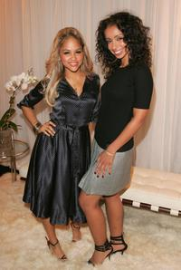 Kat DeLuna and Mya at the Tommy Hilfiger Collection 2008 Fashion Show.