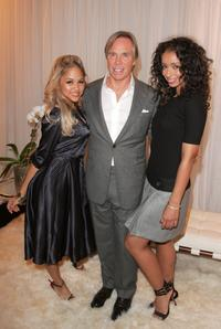 Kat DeLuna, Tommy Hilfiger and Mya at the Tommy Hilfiger Collection 2008 Fashion Show.