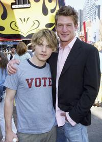Brady Corbett and Philip Winchester at the premiere of