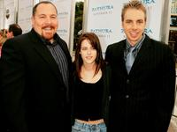 Jon Favreau, Kristen Stewart and Dax Shepard at the premiere of
