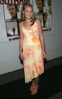 Becca Gardner at the New York premiere of