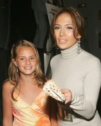 Becca Gardner and Jennifer Lopez at the New York premiere of
