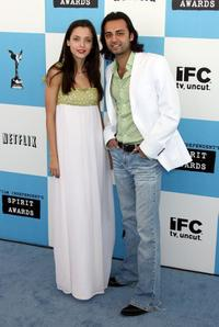 Leticia Dolera and Ahmad Razvi at the 22nd Annual Film Independent Spirit Awards.